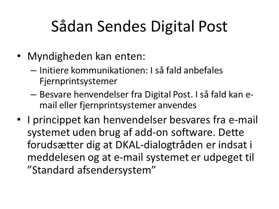 Sådan Sendes Digital Post