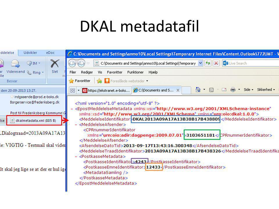 DKAL metadatafil
