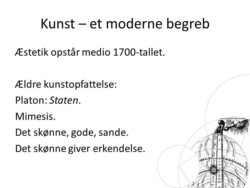 Kunst – et moderne begreb