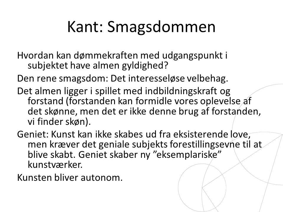 Kant: Smagsdommen