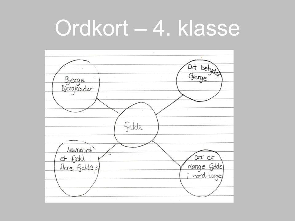 Ordkort – 4. klasse