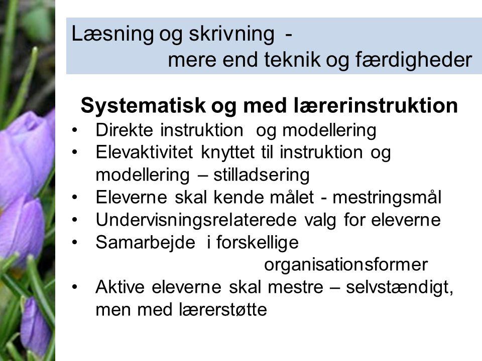 Systematisk og med lærerinstruktion