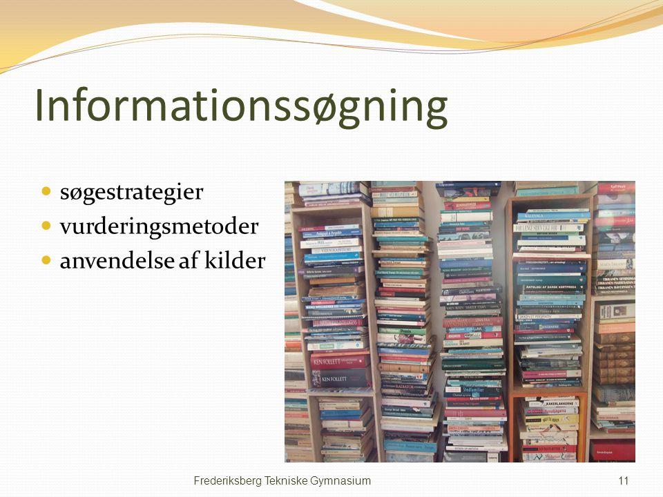 Informationssøgning søgestrategier vurderingsmetoder
