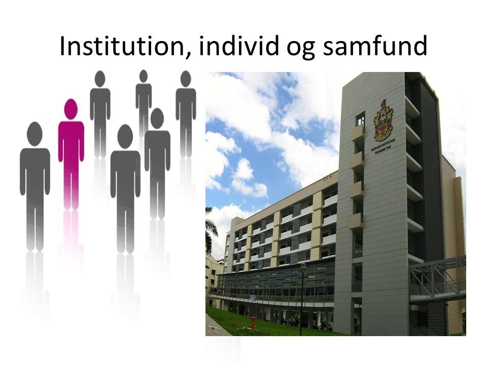 Institution, individ og samfund