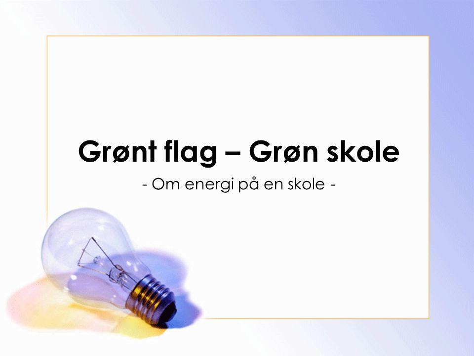 Grønt flag – Grøn skole - Om energi på en skole -