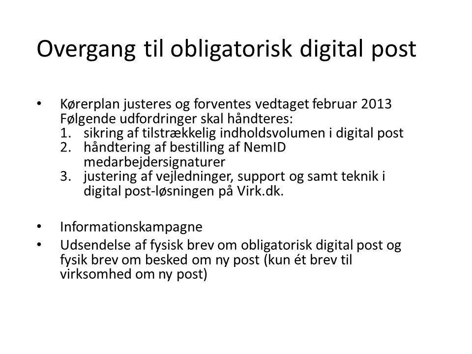 Overgang til obligatorisk digital post