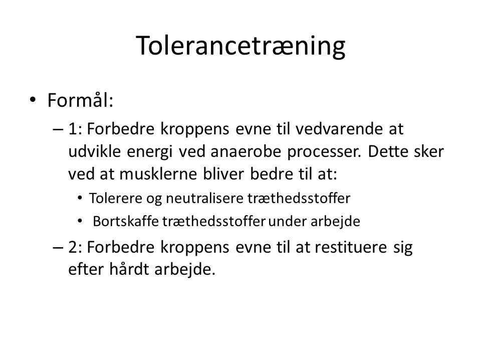 Tolerancetræning Formål: