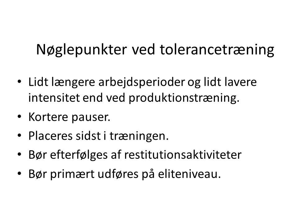 Nøglepunkter ved tolerancetræning