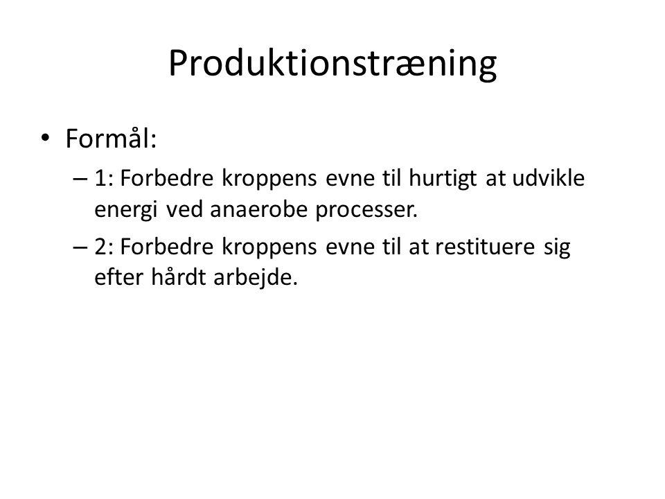 Produktionstræning Formål: