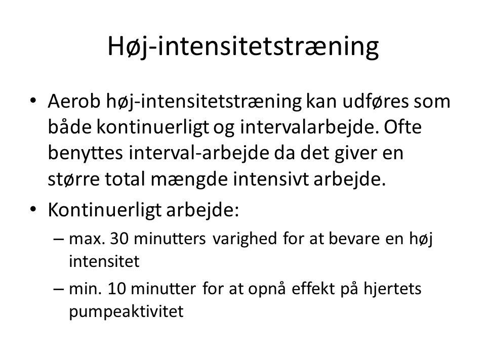 Høj-intensitetstræning