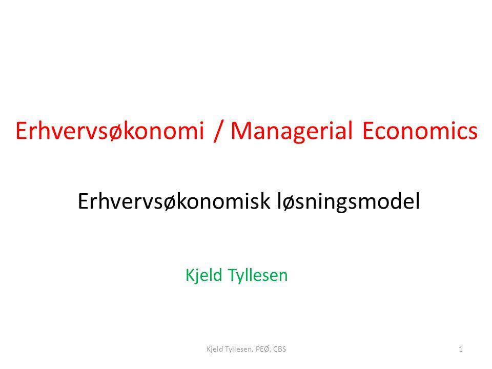 Erhvervsøkonomisk løsningsmodel