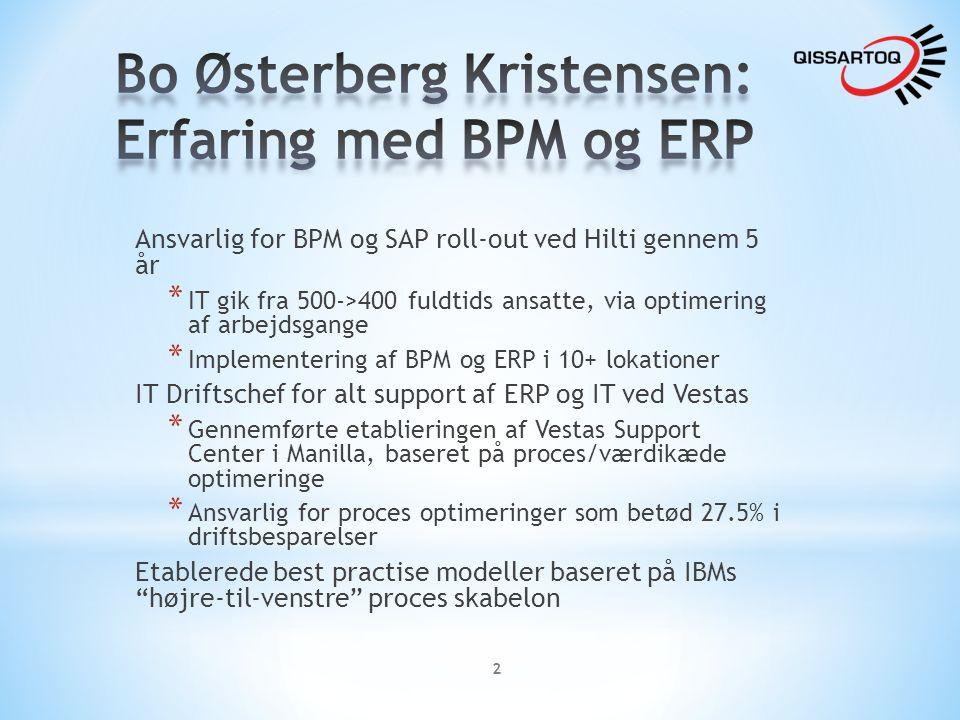 Bo Østerberg Kristensen: Erfaring med BPM og ERP