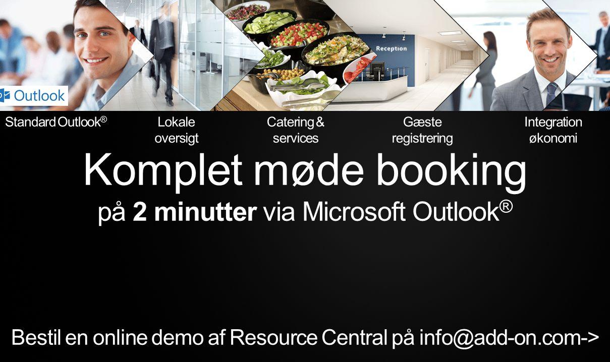 Komplet møde booking på 2 minutter via Microsoft Outlook®
