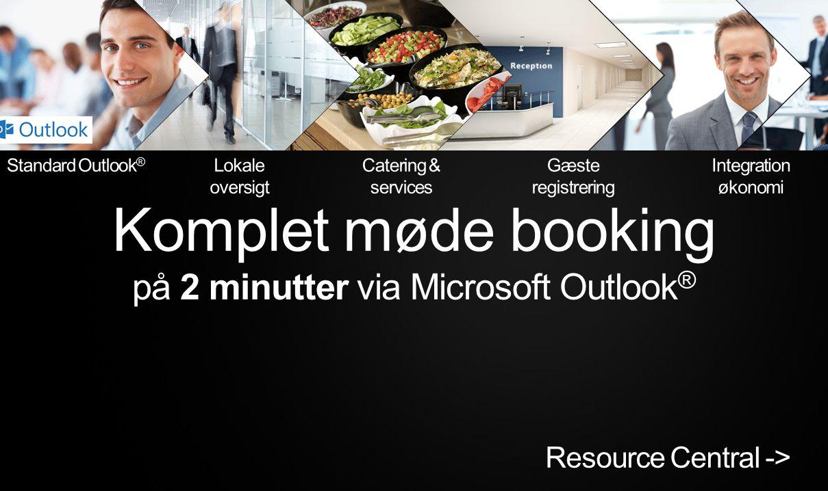 på 2 minutter via Microsoft Outlook®