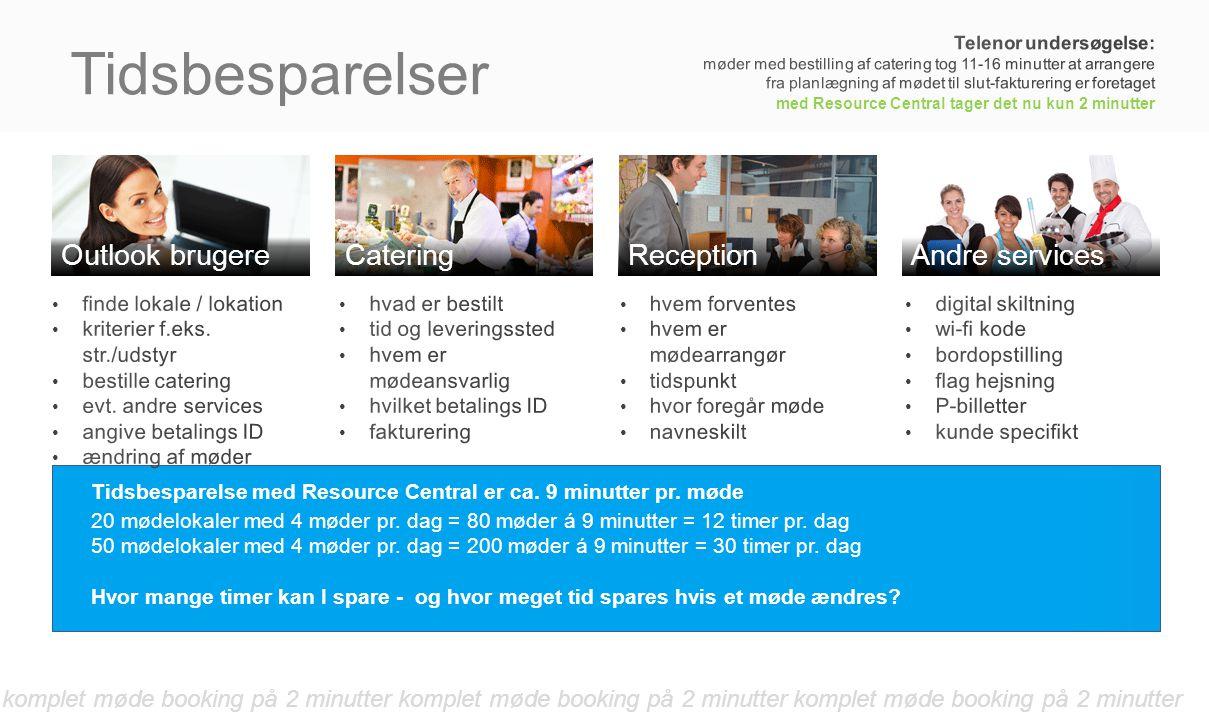 Tidsbesparelser Outlook brugere Catering Reception Andre services