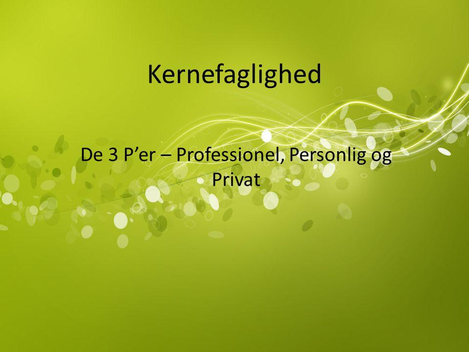 De 3 P'er – Professionel, Personlig og Privat