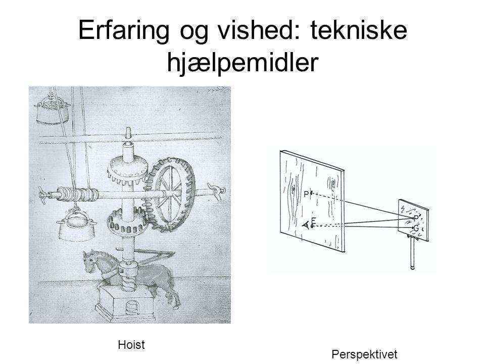 Erfaring og vished: tekniske hjælpemidler