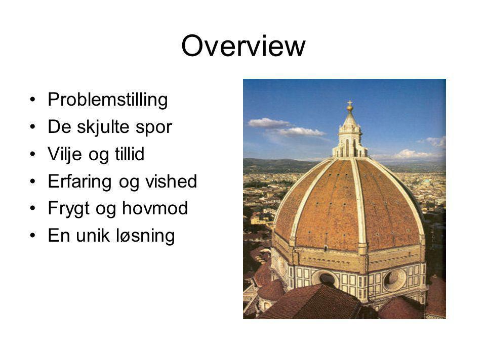 Overview Problemstilling De skjulte spor Vilje og tillid