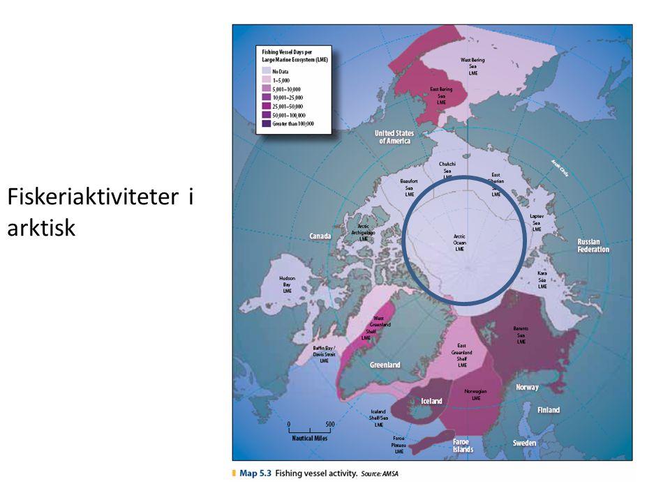 Fiskeriaktiviteter i arktisk