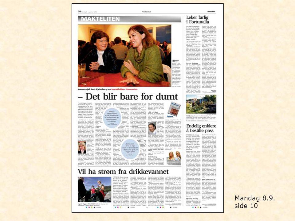 Mandag 8.9. side 10