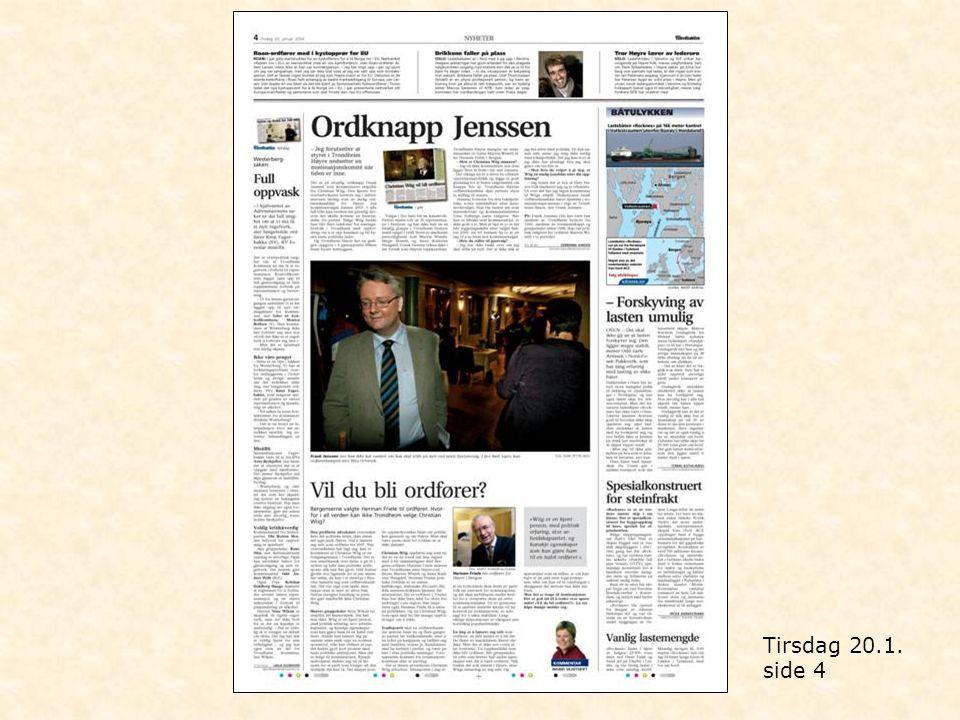 Tirsdag 20.1. side 4
