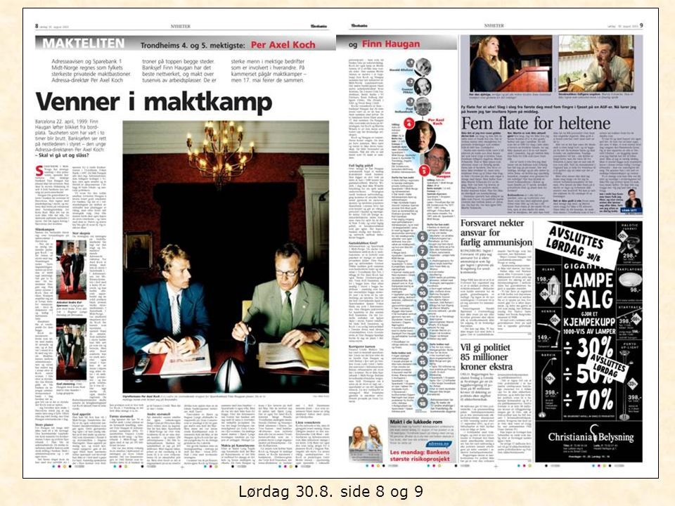 Lørdag 30.8. side 8 og 9