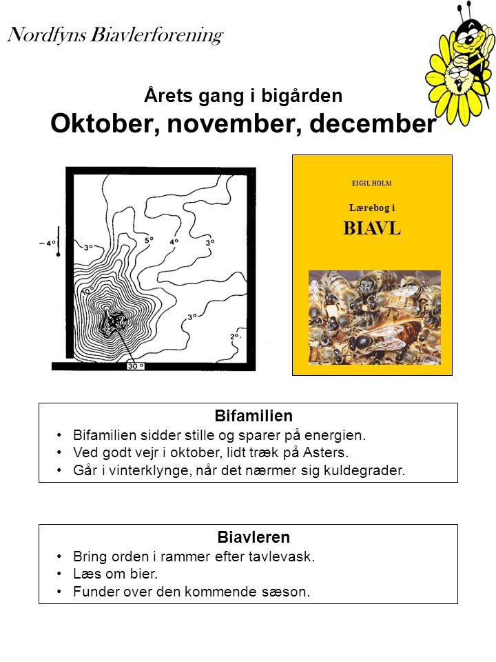 Årets gang i bigården Oktober, november, december