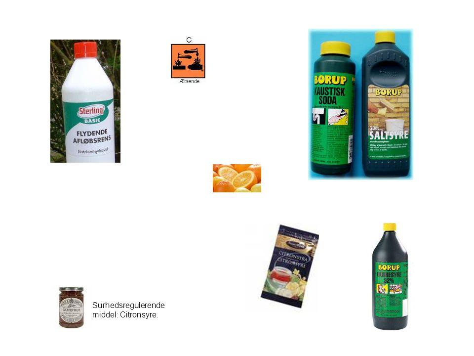 Surhedsregulerende middel: Citronsyre.