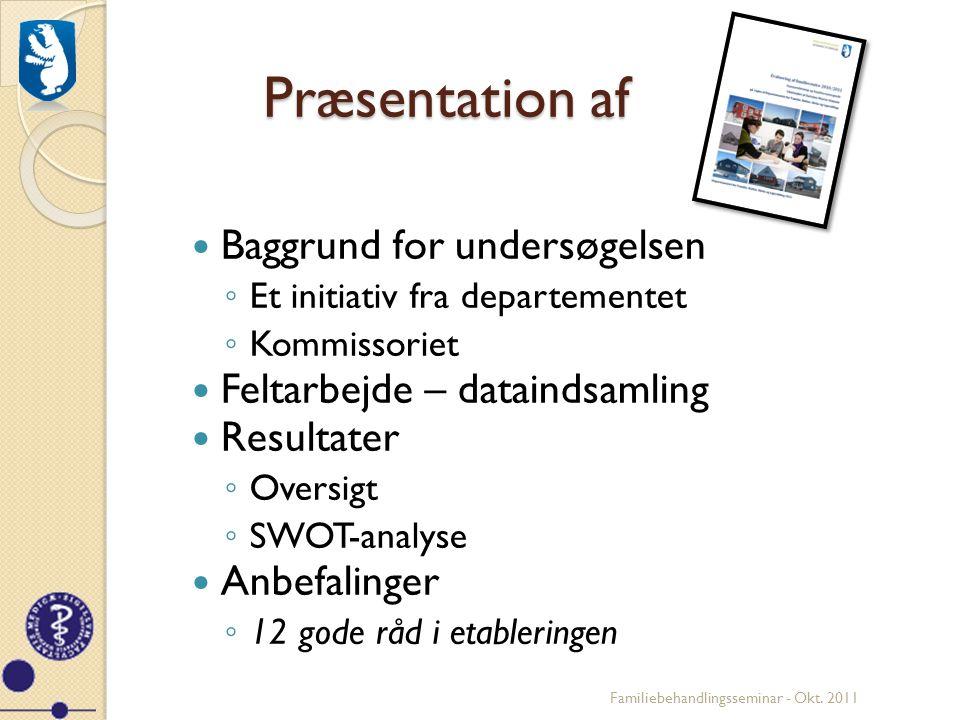 Præsentation af Baggrund for undersøgelsen