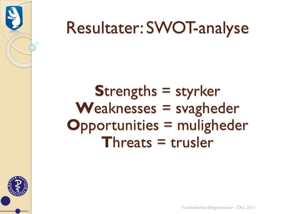 Resultater: SWOT-analyse