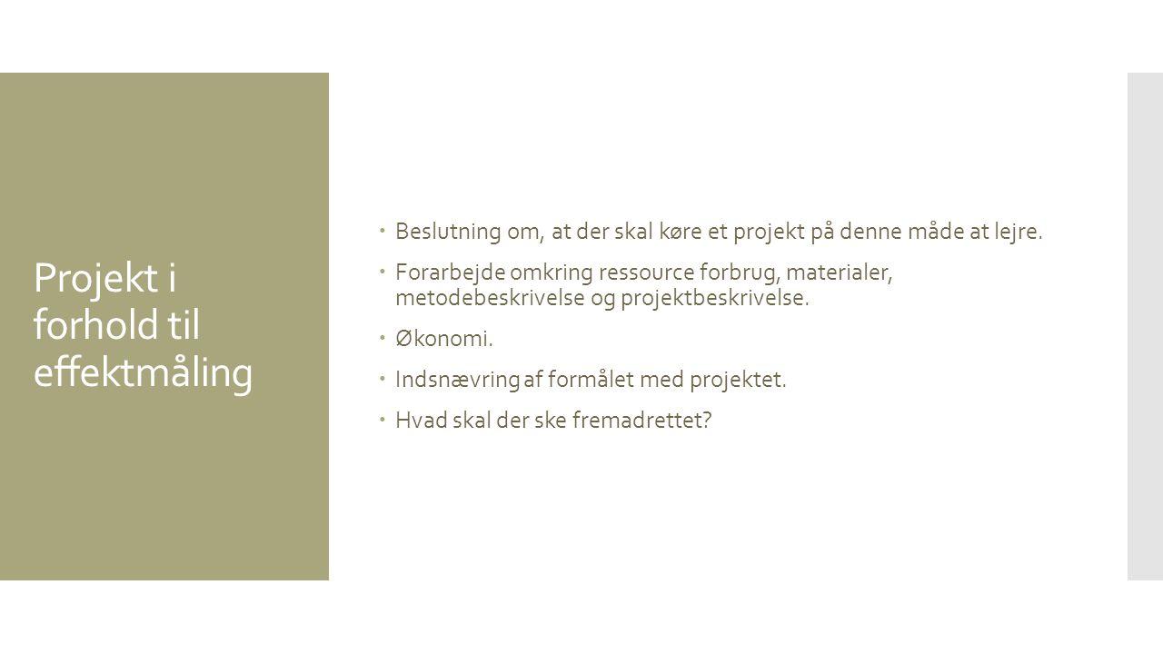 Projekt i forhold til effektmåling