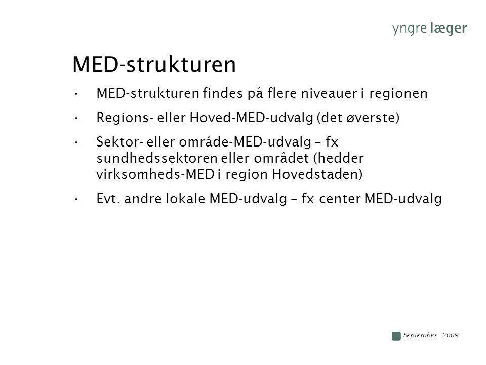 MED-strukturen MED-strukturen findes på flere niveauer i regionen