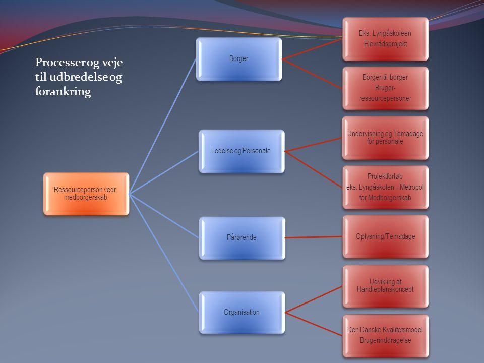Processer og veje til udbredelse og forankring