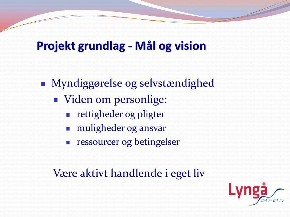Projekt grundlag - Mål og vision