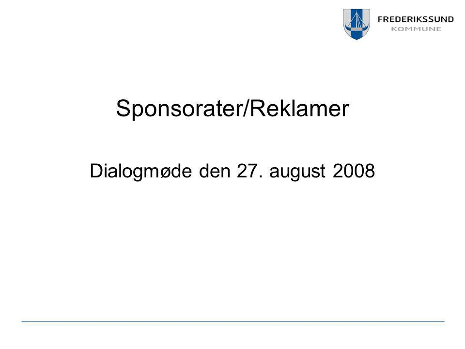 Sponsorater/Reklamer