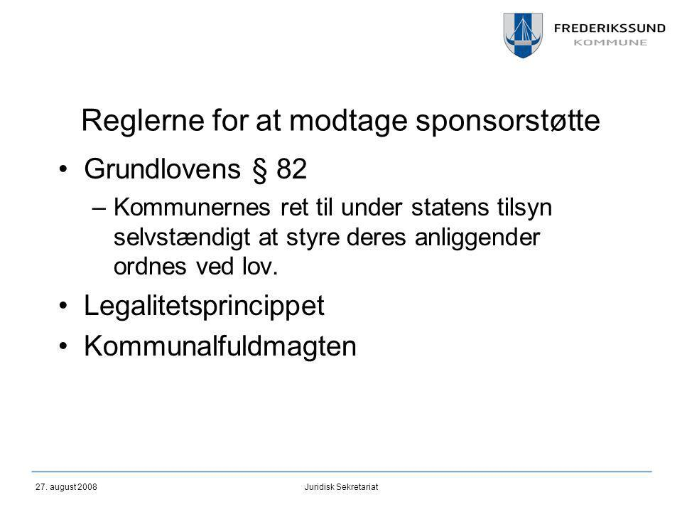 Reglerne for at modtage sponsorstøtte
