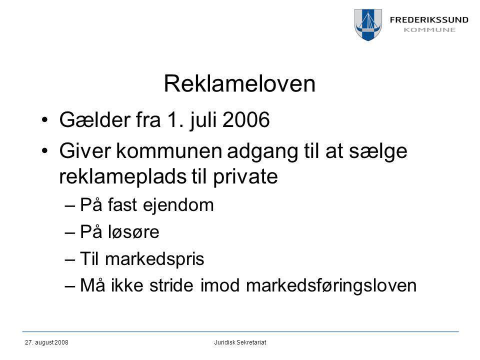 Reklameloven Gælder fra 1. juli 2006