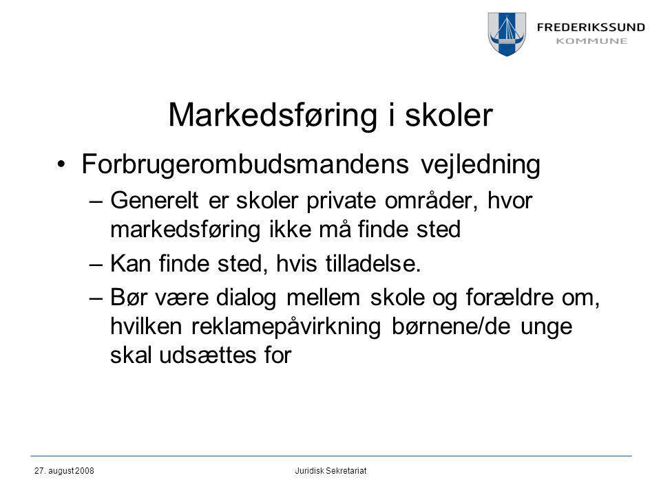 Markedsføring i skoler