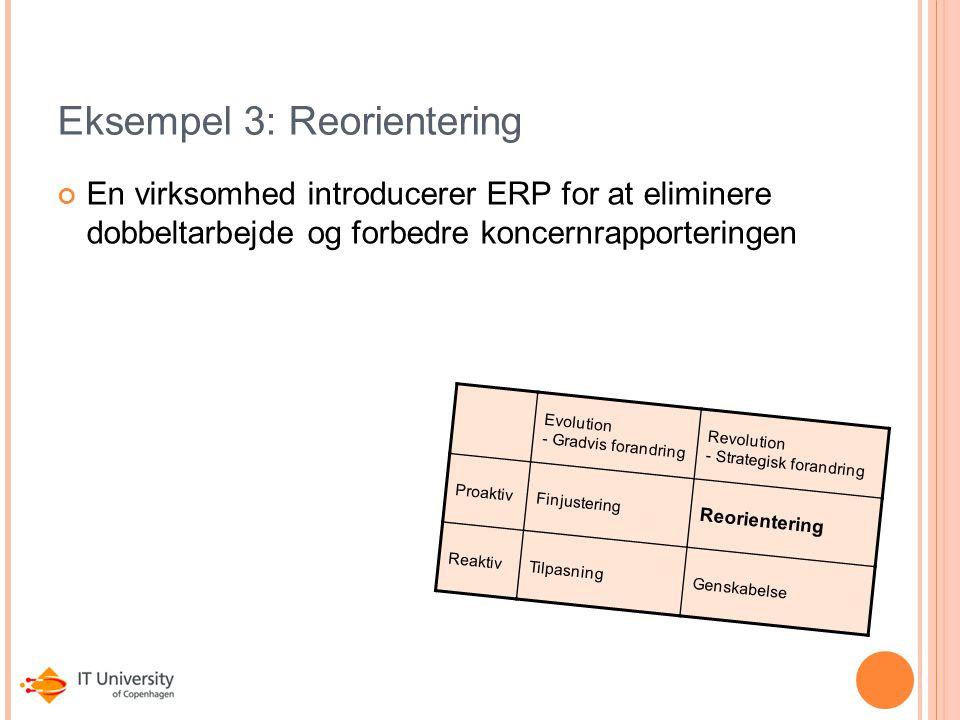Eksempel 3: Reorientering