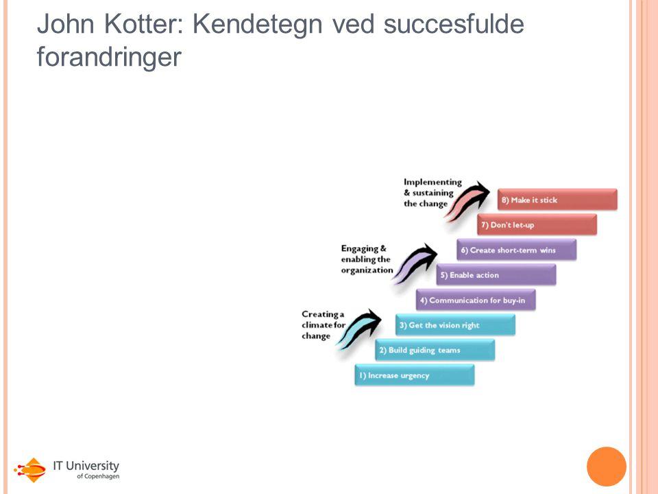 John Kotter: Kendetegn ved succesfulde forandringer