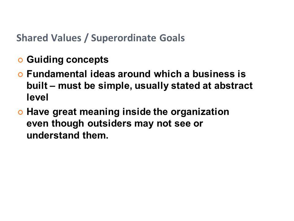 Shared Values / Superordinate Goals
