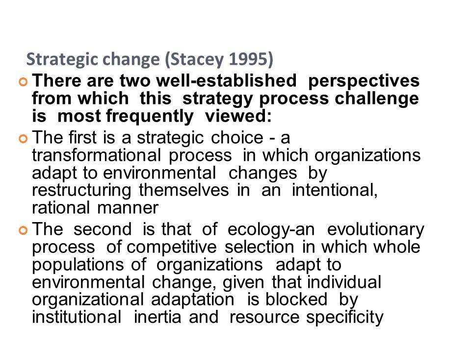 Strategic change (Stacey 1995)