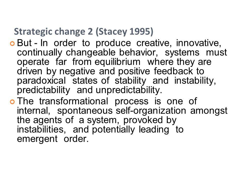 Strategic change 2 (Stacey 1995)