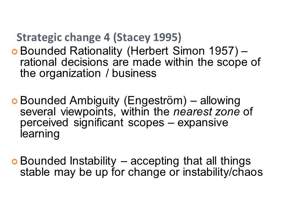 Strategic change 4 (Stacey 1995)