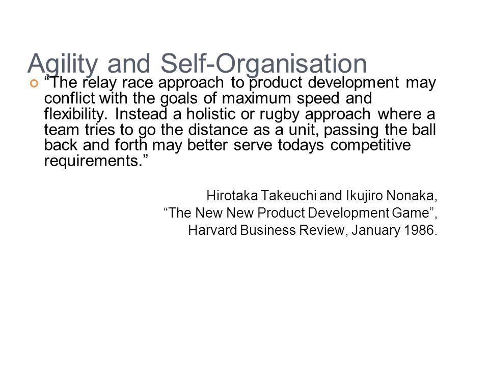 Agility and Self-Organisation
