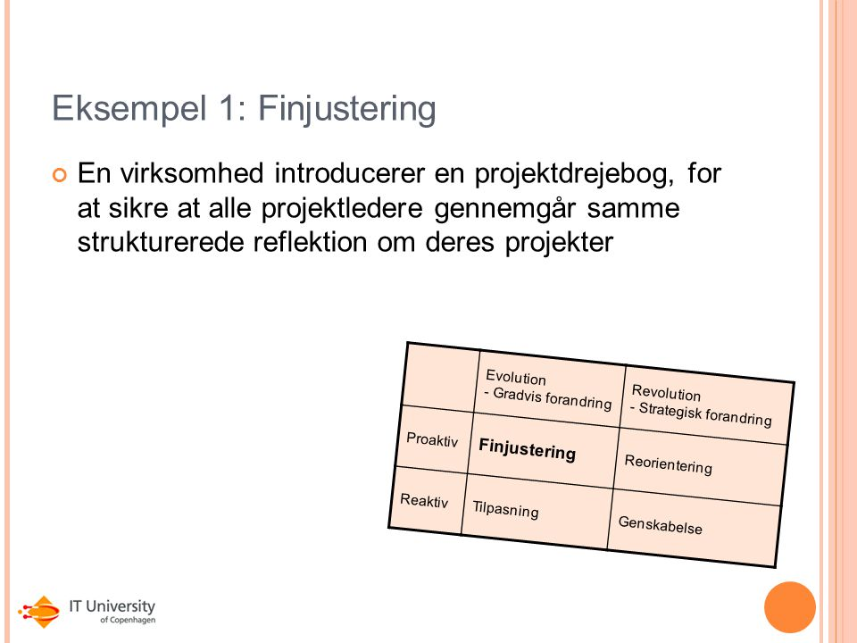 Eksempel 1: Finjustering
