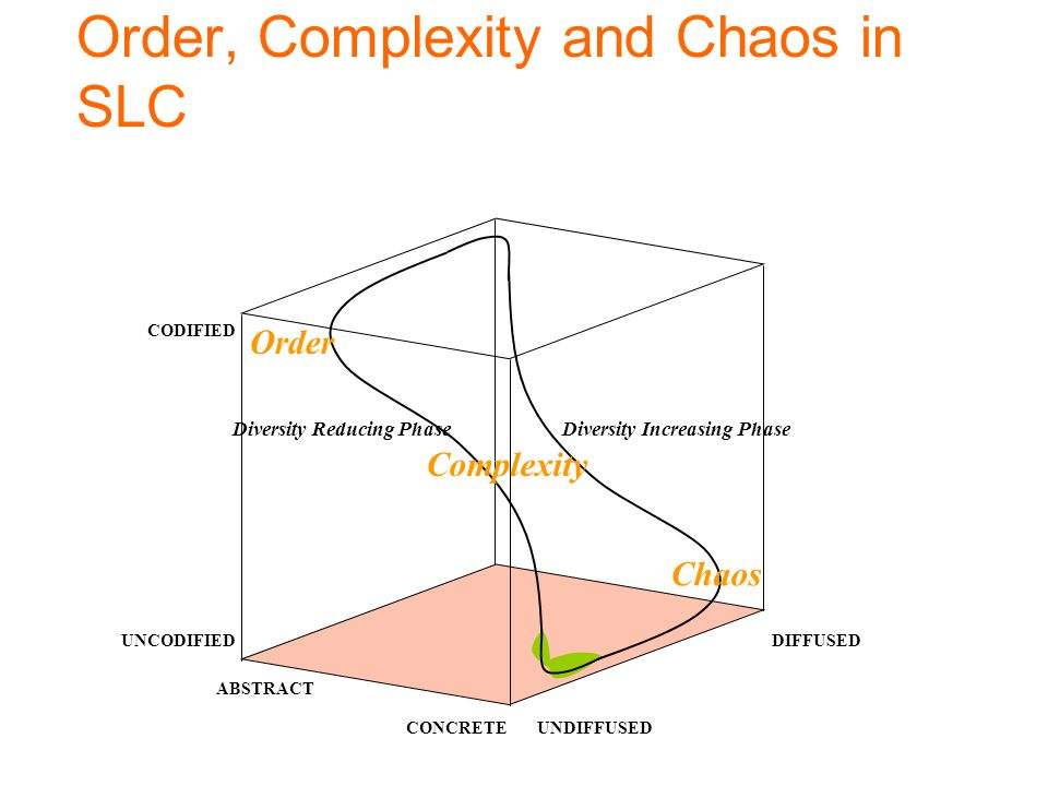 Order, Complexity and Chaos in SLC