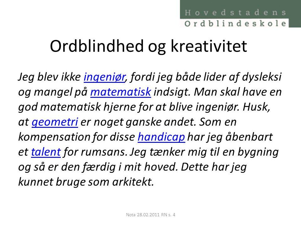 Ordblindhed og kreativitet