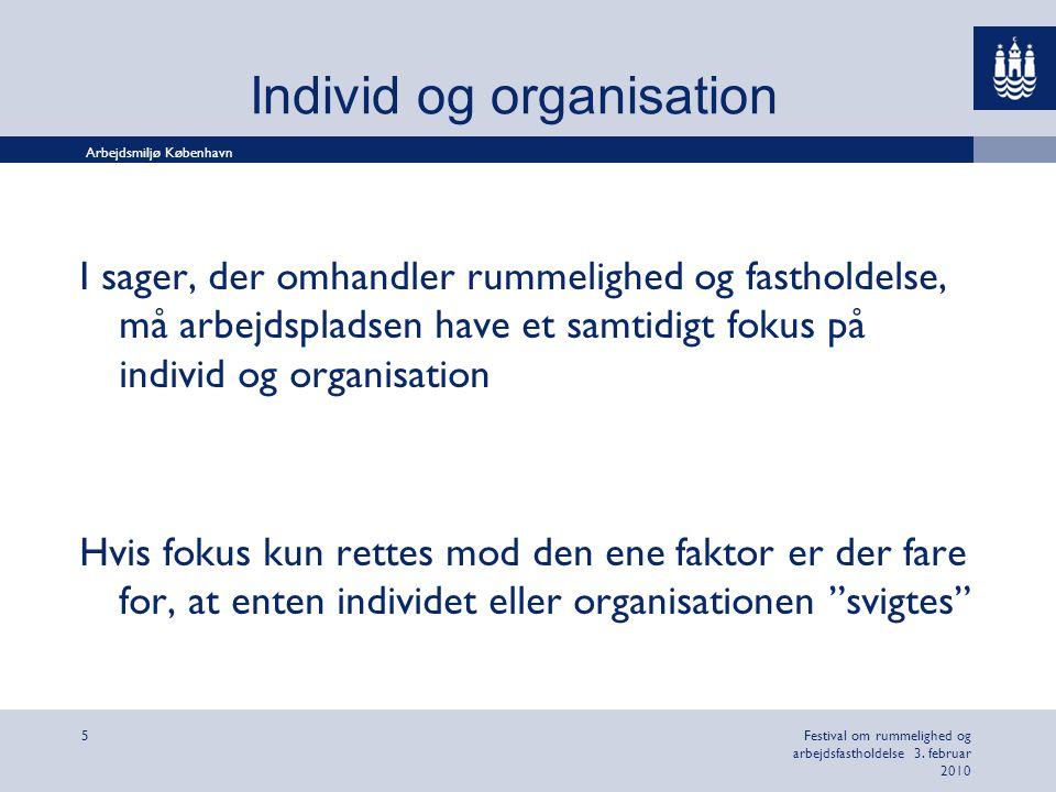 Individ og organisation