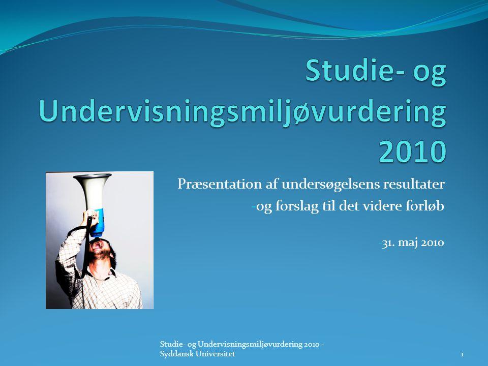 Studie- og Undervisningsmiljøvurdering 2010